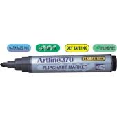 Flipchart marker ARTLINE 370 - Dry safe ink, corp plastic, varf rotund 2.0mm - albastru